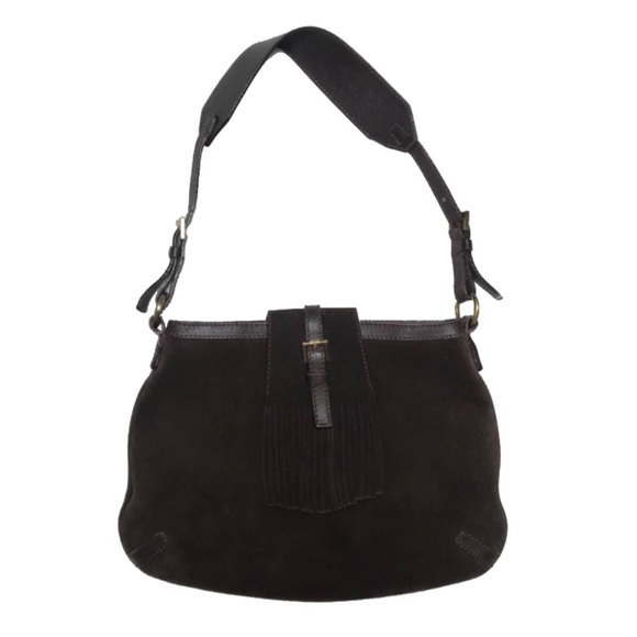 Burberry Handbags - Burberry London Fringe Suede Brown Hobo Bag
